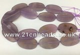 CAA4062 15.5 inches 30*50mm oval purple agate gemstone beads