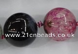 CAA412 15.5 inches 24mm round agate druzy geode gemstone beads