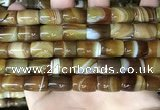 CAA4186 15.5 inches 10*14mm drum line agate gemstone beads