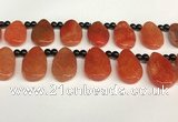 CAA4362 Top drilled 20*30mm freeform dragon veins agate beads