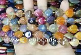 CAA4453 15.5 inches 12*12mm flat teardrop dragon veins agate beads
