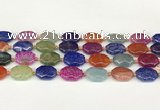 CAA4494 15.5 inches 13*18mm octagonal dragon veins agate beads
