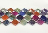 CAA4520 15.5 inches 18*18mm diamond dragon veins agate beads