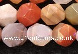 CAA4576 15.5 inches 8mm faceted nuggets mixed botswana agate beads