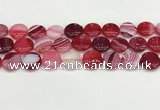 CAA4607 15.5 inches 16mm flat round banded agate beads wholesale