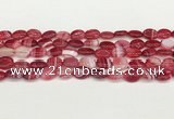 CAA4648 15.5 inches 10*14mm oval banded agate beads wholesale