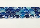 CAA4658 15.5 inches 12*16mm oval banded agate beads wholesale