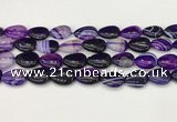 CAA4695 15.5 inches 12*16mm flat teardrop banded agate beads wholesale
