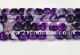 CAA4735 15.5 inches 12*12mm square banded agate beads wholesale
