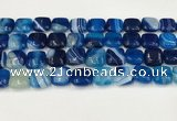 CAA4739 15.5 inches 12*12mm square banded agate beads wholesale
