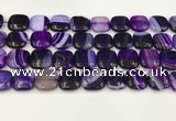 CAA4742 15.5 inches 14*14mm square banded agate beads wholesale