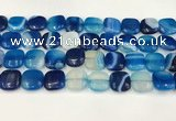 CAA4746 15.5 inches 14*14mm square banded agate beads wholesale