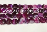CAA4751 15.5 inches 16*16mm square banded agate beads wholesale