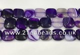 CAA4758 15.5 inches 18*18mm square banded agate beads wholesale