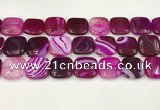 CAA4767 15.5 inches 20*20mm square banded agate beads wholesale