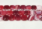 CAA4768 15.5 inches 20*20mm square banded agate beads wholesale