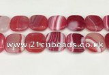 CAA4784 15.5 inches 30*30mm square banded agate beads wholesale