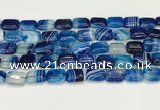 CAA4794 15.5 inches 10*14mm rectangle banded agate beads wholesale