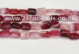 CAA4800 15.5 inches 12*16mm rectangle banded agate beads wholesale