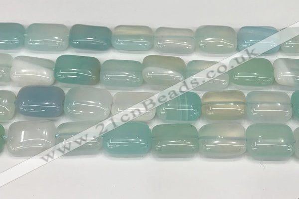 CAA4817 15.5 inches 15*20mm rectangle banded agate beads wholesale