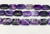 CAA4822 15.5 inches 18*25mm rectangle banded agate beads wholesale