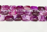 CAA4823 15.5 inches 18*25mm rectangle banded agate beads wholesale
