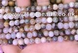 CAA4940 15.5 inches 6mm round bamboo leaf agate beads wholesale