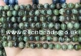 CAA4965 15.5 inches 6mm round green dendritic agate beads