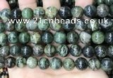 CAA4968 15.5 inches 12mm round green dendritic agate beads