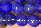 CAA5030 15.5 inches 6mm round blue dragon veins agate beads