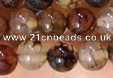 CAA5047 15.5 inches 6mm round dragon veins agate beads wholesale