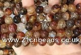CAA5049 15.5 inches 10mm round dragon veins agate beads wholesale
