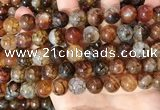 CAA5050 15.5 inches 12mm round dragon veins agate beads wholesale