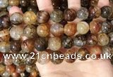 CAA5051 15.5 inches 14mm round dragon veins agate beads wholesale