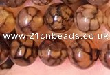 CAA5055 15.5 inches 6mm round dragon veins agate beads wholesale