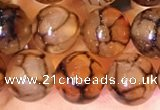 CAA5056 15.5 inches 8mm round dragon veins agate beads wholesale