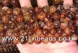 CAA5057 15.5 inches 10mm round dragon veins agate beads wholesale