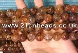 CAA5058 15.5 inches 12mm round dragon veins agate beads wholesale