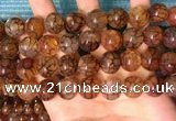 CAA5059 15.5 inches 14mm round dragon veins agate beads wholesale