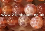 CAA5071 15.5 inches 6mm round red dragon veins agate beads