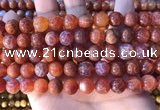 CAA5073 15.5 inches 10mm round red dragon veins agate beads