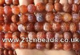 CAA5074 15.5 inches 12mm round red dragon veins agate beads