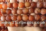 CAA5075 15.5 inches 14mm round red dragon veins agate beads