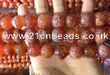 CAA5076 15.5 inches 16mm round red dragon veins agate beads