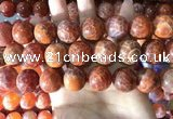 CAA5078 15.5 inches 20mm round red dragon veins agate beads