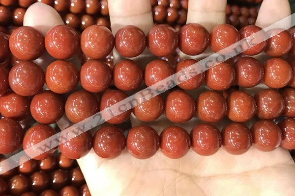 CAA5103 15.5 inches 14mm round red agate gemstone beads