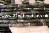 CAA5118 15.5 inches 8*33mm rice striped agate beads wholesale