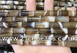 CAA5126 15.5 inches 8*20mm tube striped agate beads wholesale