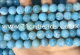CAA5144 15.5 inches 10mm round dragon veins agate beads wholesale