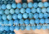 CAA5145 15.5 inches 12mm round dragon veins agate beads wholesale